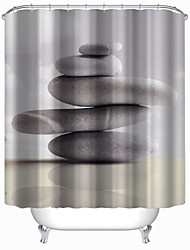 "Шторка для ванной-W71""×L71""(W180cm x L180cm)-Современный-Полиэфир"