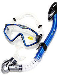 Snorkeling Packages Snorkels Diving Masks Swim Mask Goggle Snorkel Set Dry Top Diving / Snorkeling Swimming silicone-WAVE