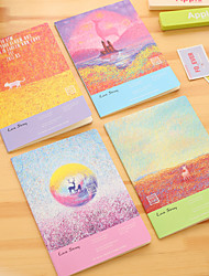 1PC The Forest Moon Notebook Lovely Creative Notebook Diary Stationery
