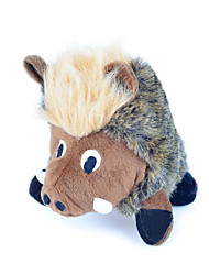 Juguete para Gato Juguete para Perro Juguetes para Mascotas Peluches Chirrido Cerdo Textil Marrón