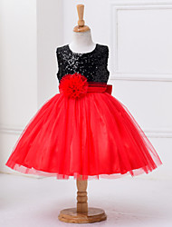 Girl's Dress,Polyester Summer Red