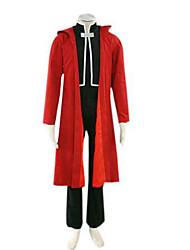 Inspired by Fullmetal Alchemist Edward Elric Anime Cosplay Costumes Cosplay Suits Patchwork Long Sleeve Coat Vest Pants Cloak For Male