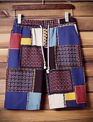 Men's Shorts,Casual Patchwork Cotton