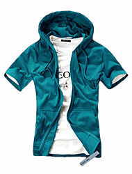 10 Colors Men's High Quality Hooded cardigan Fleece Tracksuits Hoodie & Sweatshirt, Short Sleeve Solid Coat