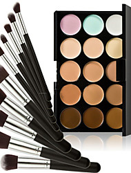 15 Concealer Make-up borstels Nat Ogen / Gezicht / Lippen Concealer / Oneffen huidtint / Naturel / Poriënverkleinend / Ademend Others