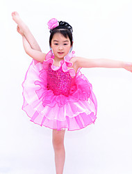 Children Dance Dancewear Two-Tones Children Girls Ballet Dance Dresses