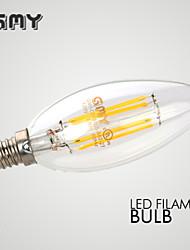 GMY Luzes de LED em Vela Decorativa E14 3W ≥300 lm 2700 K Branco Quente 4 COB 1 pç AC 220-240 V B
