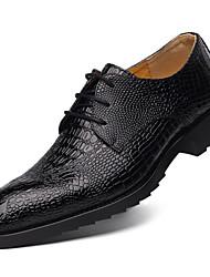 Men's Oxfords Comfort Cowhide Casual Comfort Black Brown 1in-1 3/4in