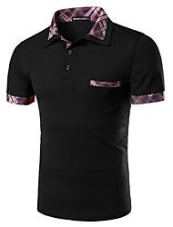 Herren Freizeit Polo - Patchwork Kurz Polyester