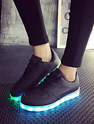 FemininoLight Up Shoes-Rasteiro-Preto-Courino-Ar-Livre Para Esporte Casual