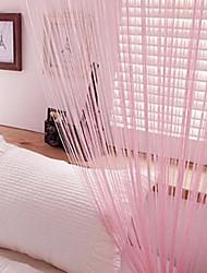 w100cm * l201cm, un panel de cortinas de la secuencia varilla bolsillo línea multicolor bufanda de la borla