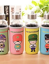 1PC 300 Ml British Soldiers Cloth Cartoon Warm Hand Seal Cellular Glass Water bottles