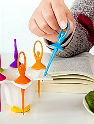 6pcs Fruit Fork Dancing Girls