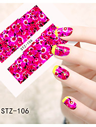 1pcs  Water Transfer Nail Art Stickers  Colorful Flower Nail Art Design STZ106-110