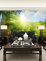 JAMMORY Large Frescoes Green Forest Falls TV Backdrop Wallpaper Wallcover Abstraction SimpleXL XXL XXXL