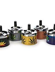 Metal Press portátil super-cinzeiros para a população de fumar deixa o teste padrão (cor aleatória)