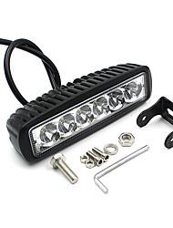 v1nf 6inch 18w 6leds travaillent lumières spot bar de conduite de lumière hors route brouillard voiture 4wd suv