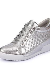 Scarpe Donna-Sneakers alla moda-Tempo libero / Formale / Casual-Comoda-Piatto-Finta pelle-Argento / Dorato