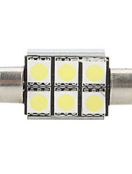 2016Year Hot Selling 12V 3W Super Bright White LED Festoon LED Bulb Side Marker Light Reading LightLicense Plate Light