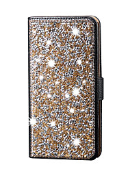 For iPhone 7 7plus 6s 6 Plus SE 5s 5 Case with Stand Case Full Body Case Glitter Shine Hard PU Leather