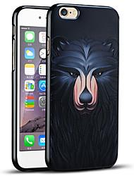 realzó la caja de protección del oso suave de la contraportada para el iPhone 6s iPhone / iPhone 6