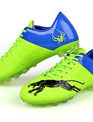 Zapatos Fútbol Semicuero Negro / Azul / Amarillo Hombre