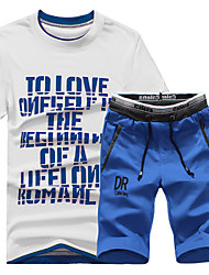 The 2016 men's new summer t-shirt tee male summer short Suit Shorts sweater suit male tide