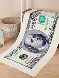 Full Cotton Paper Money Bath Towel