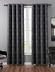 One Panel Modern Polka Dots Grey Bedroom Polyester Blackout Curtains Drapes