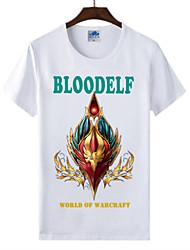 flamejante mundo Light® of warcraft wow sangue raça elf cosplay lycra t-shirt de algodão