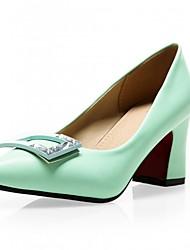 Women's Shoes Leatherette Chunky Heel Heels Heels Wedding / Office & Career / Party & Evening