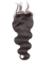 "1pcs Lace Frontal Closure Body Wave  4""x4"" Natural Black Free Middle Middle Part Virgin Human Hair Full Lace Frontal"