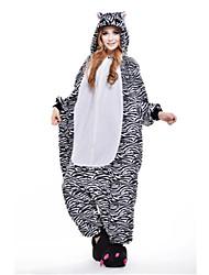 kigurumi Pyjamas New Cosplay® / Zébré Collant/Combinaison Fête / Célébration Pyjamas Animale Halloween Noir Mosaïque Polaire Kigurumi Pour