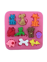 Cartoon Animals  Sugar Candy Fondant Cake Molds  For The Kitchen Baking Molds