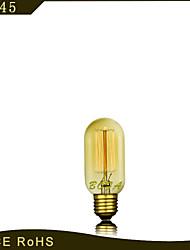 bofa 25 w e27 T45 lâmpadas de incandescência clássica fio edison (85v-265v)