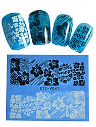 8pcs Black New Nails Art  Water Transfer Sticker  Manicure Nail Art Tips  STZV041-048