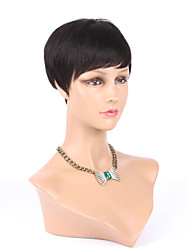 New Pixie Cut Cheap Human Hair Wig Rihanna Black Short Cut Wigs For Black Women African American Celebrity Wigs Hot Sale