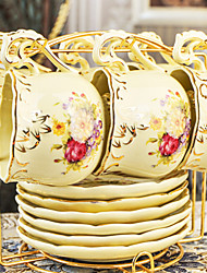 Ceramic Tea Cup 6*2pcs Afternoon Tea China British Style