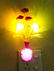 Lovely Vase Color-changing Smart Light Controlled Emergency LED Night Light for Kids Room Home Decoration(Random Color)