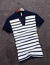 The 2016 Summer men's T-shirt slim Korean half sleeve Japanese men's fashion casual clothes