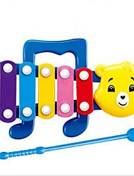 panda / urso de brinquedo de plástico forma de música verde / azul