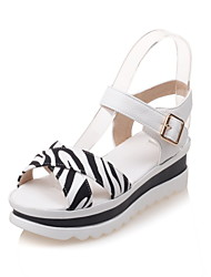 Women's Shoes Leatherette Wedge Heel Platform / Slingback / Gladiator / Creepers / Comfort / Novelty / Ankle Strap /