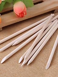 10pcs ongles bâton de bois art orange cuticule pousseur décapant pour la manucure soins