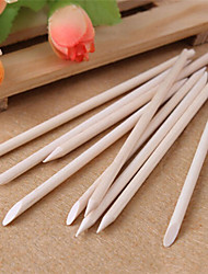 10pcs ногтей оранжевый дерево палочка кутикулы Pusher Remover для ухода за маникюр