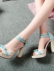 Women's Shoes Heel Heels / Peep Toe / Platform Sandals / Heels Outdoor / Dress / Casual Blue / Pink / Red