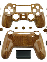 Replacement Controller Case for PS4 Controller (Wood Grain)