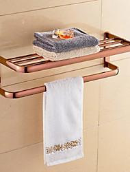 Contemporary Rose Gold-Plated Brass Material Bathroom Shelf