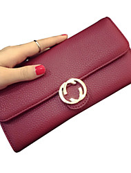 2016 New Money Clip Wallet Women Long Leather Handbag Simple Hasp Wallet JFS0322010