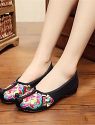 Women's Shoes Fabric Low Heel Comfort Flats Outdoor / Work & Duty / Casual Red