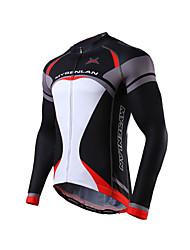 MYSENLAN Bike/Cycling Jersey / Tops Men's Long Sleeve Breathable / Lightweight Materials Polyester / Terylene Classic / FashionGreen /